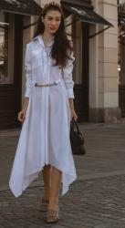How to Transition a White Shirt Dress from Beach to Office this Fall?