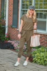Olive Jumpsuit 3 Ways for Fall & Confident Twosday Linkup