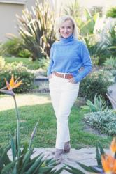 Add Some Color With A Periwinkle Sweater