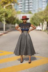 Your Voice Matters Tee + Bubble Swing Skirt