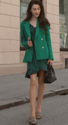Over the Boring Beige Business Smart Outfits? Try Green!