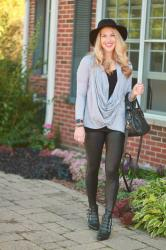 Fall Leather Leggings Outfit & Confident Twosday Linkup