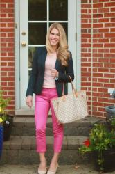 How to Wear Bright Pink Pants & Confident Twosday Linkup