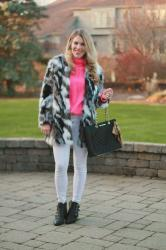 What? Faux Fur Coat Casually? & Confident Twosday Linkup