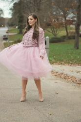 Princess vibes in my Bubble Sweater and tulle skirt