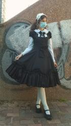 25.12.2020 - White & Black I decided to wear lolita to my weekly appointment, because I...