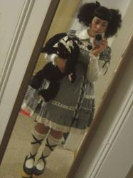 curlyb:  A coord test run: old school black gingham!  I'm really...