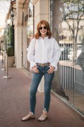 A WHITE SHIRT IS ALWAYS A GOOD IDEA WITH NORDSTROM